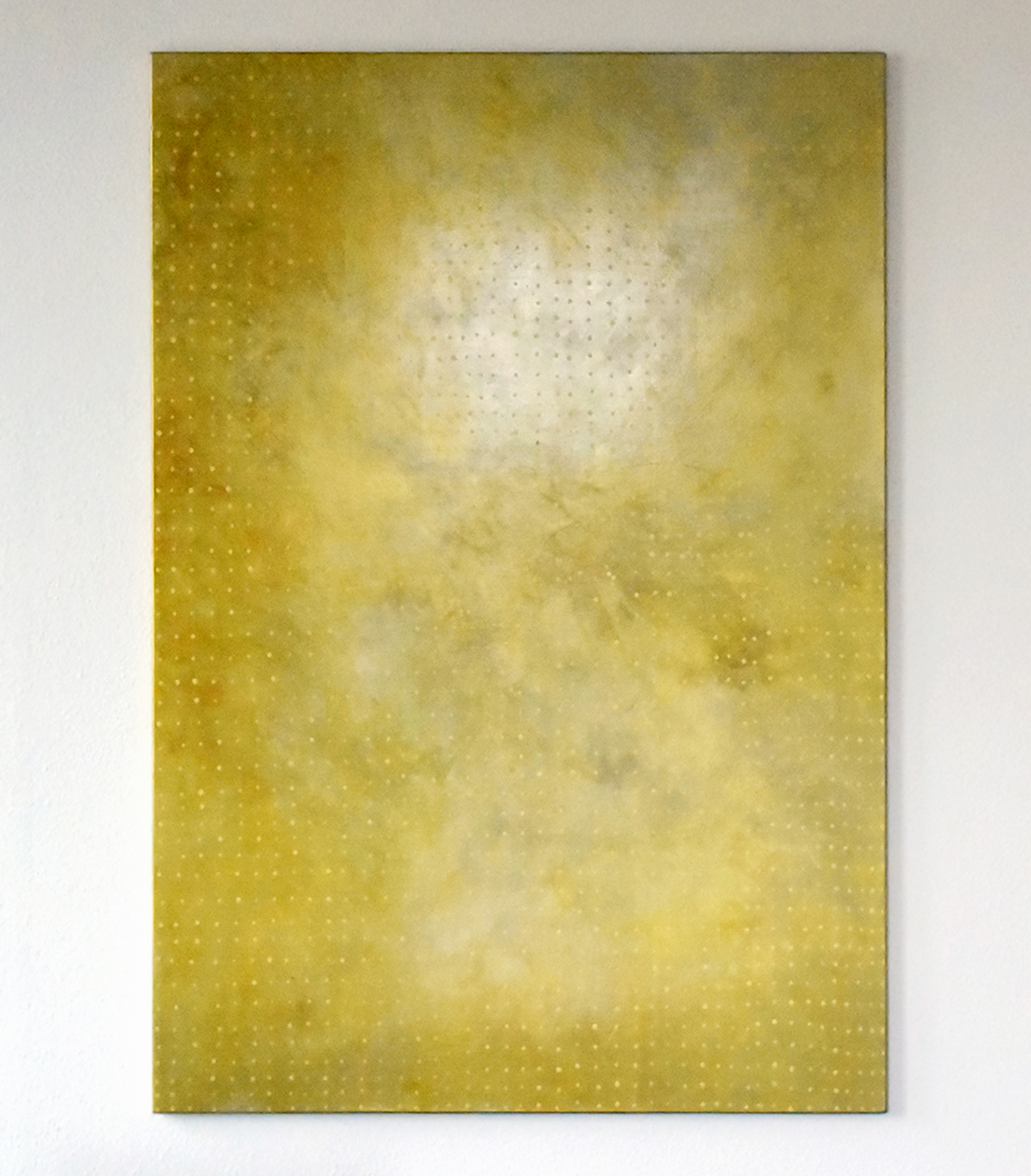 """returning zone – 160 cm x 120 cm, Pigmente auf Leinwand, 2015"