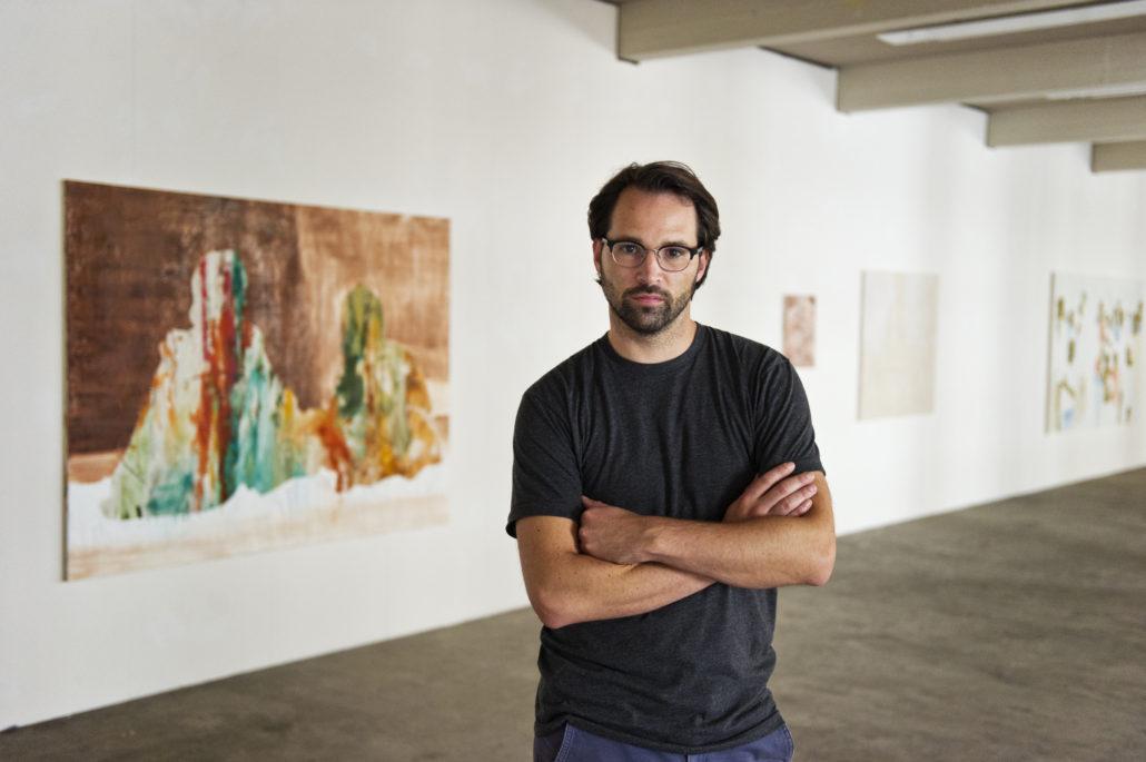 Fotos in seiner Ausstellung im Architektur Forum in der Lagerhalle St. Gallen und in seinem Atelier in der Reithalle.